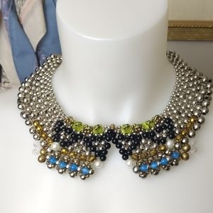 Pam Hiran NWT collar beaded necklace